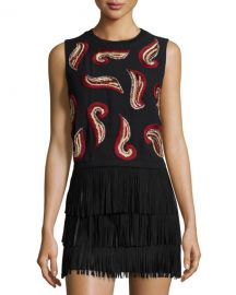 Kara Paisley top by Alice and Olivia at Neiman Marcus