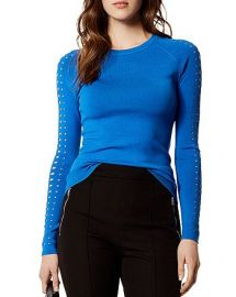 Karen Millen Laser Cut Sweater at Bloomingdales
