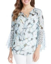 Karen Kane Floral Bell Sleeve Peasant Blouse at Bloomingdales