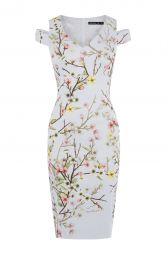 Karen Millen Blossom Print Pencil Dress at Karen Millen