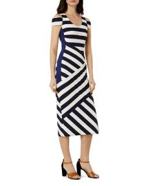Karen Millen Cold-Shoulder Midi Dress at Bloomingdales