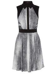 Karen Millen Denim Print Shirt Dress at House of Fraser