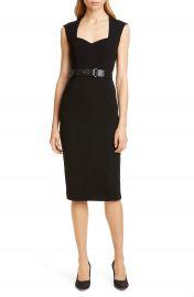 Karen Millen Elongated Investment Belted Dress   Nordstrom at Nordstrom