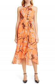 Karen Millen Floral Midi Dress   Nordstrom at Nordstrom