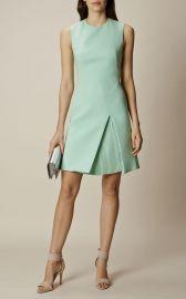 Karen Millen Pastel Green Pleated Mini Dress at Karen Millen