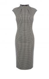 Karen Millen Pleat-Neck Detail Dress at Karen Millen