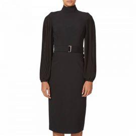 Karen Millen Pleated Drama Sleeve Dress at Brand Alley