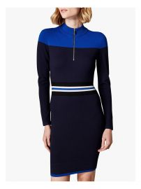 Karen Millen Sporty Stripe Knitted Dress at John Lewis