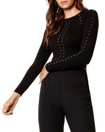 Karen Millen Studded Sweater at Bloomingdales