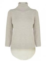 Karen Millen Texture Stitch Roll Neck Sweater at House of Fraser