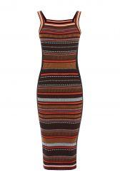 Karen Millen Texture Stripe Knit Dress at Karen Millen