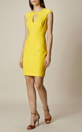 Karen Millen Yellow Scuba Pencil Dress at Karen Millen