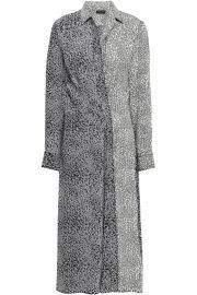 Karen leopard-print silk midi shirt dress at The Outnet