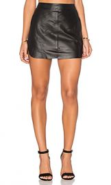Karina Grimaldi Jacob Leather Skirt in Black from Revolve com at Revolve
