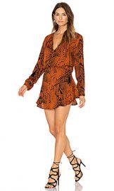 Karina Grimaldi Pilar Print Mini Dress in Rust Snake from Revolve com at Revolve
