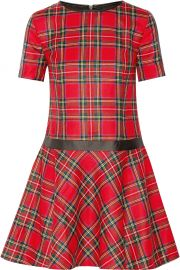 Karl Lagerfeld Penny Plaid Wool Dress at The Outnet