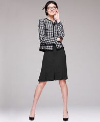 Kasper Collarless Houndstooth Jacket - Wear to Work - Women - Macys at Macys