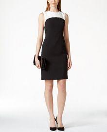 Kasper Colorblocked Sheath Dress at Macys