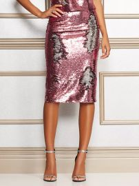 Kat Pink Sequin Skirt by Eva Mendes Collection at New York & Company