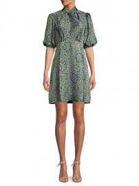 Kate Spade New York - Flair Flora Devore Mini Dress at Saks Fifth Avenue