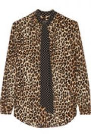 Kate Moss Slim Signature leopard-print washed-silk shirt at The Outnet