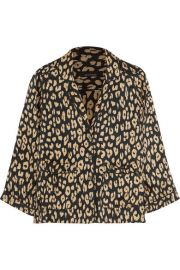 Kate Moss for Equipment   Lake leopard-print washed-silk pajama shirt at Net A Porter