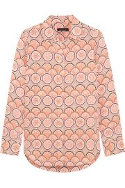 Kate Moss for Equipment   Slim Signature printed washed-silk shirt at Net A Porter