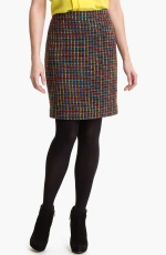 Kate Spade Judy tweed skirt on The Mindy Project at Nordstrom