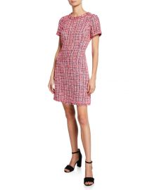 Kate Spade Multi Tweed Short Sleeve Sheath Dress at Neiman Marcus