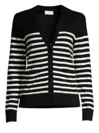 Kate Spade New York - Broome Street Heart Patch Stripe Wool-Blend Cardigan at Saks Fifth Avenue