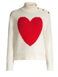 Kate Spade New York - Broome Street Heart Turtleneck Sweater at Saks Fifth Avenue
