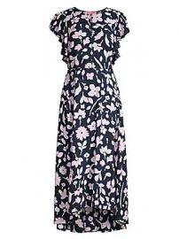 Kate Spade New York - Splash Flutter Sleeve Floral Midi Dress at Saks Fifth Avenue