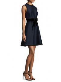 Kate Spade New York - Velvet Bow Fit- -Flare Dress at Saks Fifth Avenue