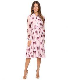 Kate Spade New York Encore Rose Chiffon Dress Plum Dawn at 6pm
