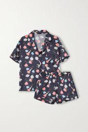 Katelyn Fiona Printed Satin Pajama Set by Morgan Lane at Net A Porter