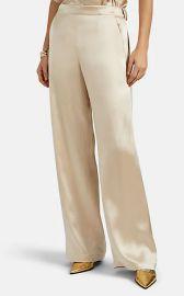 Kati Satin Wide-Leg Pants at Barneys Warehouse