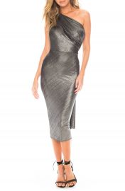 Katie May Kong One-Shoulder Metallic Cocktail Dress   Nordstrom at Nordstrom