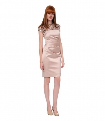 Kay Unger Sequin Lattice Yoke Dress at Dillards