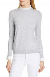 Kaytiie Broderie Lace Collar  Cuff Sweater by Ted Baker at Nordstrom