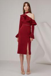Keepsake Lovers Holiday Midi Dress Plum at Fashionbunker
