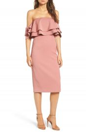 Keepsake the Label No Reason Off the Shoulder Sheath Dress at Nordstrom