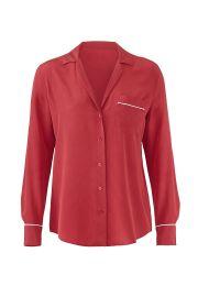 Keira Silk Pajama Shirt by Equipment at Rent The Runway