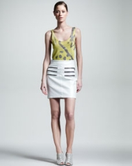 Kelly Wearstler Figurine Zip-Detail Skirt at Neiman Marcus