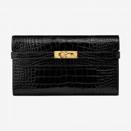 Kelly classic wallet at Hermes