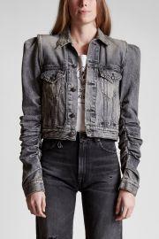 Kelsey Shirring Denim Jacket by R13  at R13