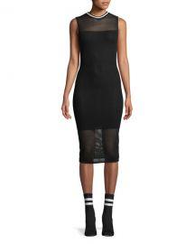 Kendall   Kylie Mesh Sleeveless Body-Con Midi Dress   Neiman Marcus at Neiman Marcus