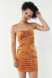 Kendall Crushed Velvet Mini Dress at Urban Outfitters