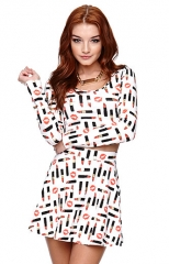Kendall and Kylie lipstick print top at Pacsun