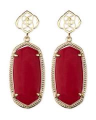 Kendra Scott Debbie Glass Drop Earrings Red at Neiman Marcus