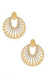 Kendra Scott Didi Sunburst Drop Earrings in Vintage Gold from Revolve com at Revolve